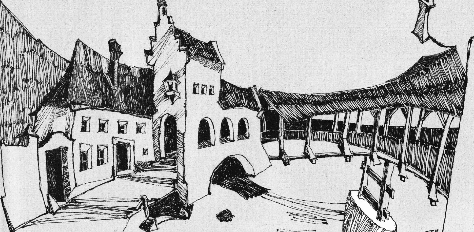 Zeichnung von Hubert Zanol (1983)