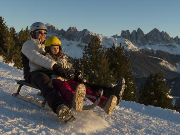 Plose Brixen Winter Familienwandern Rodeln 26.01.2013